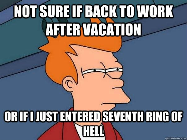 Image result for work after vacation funny