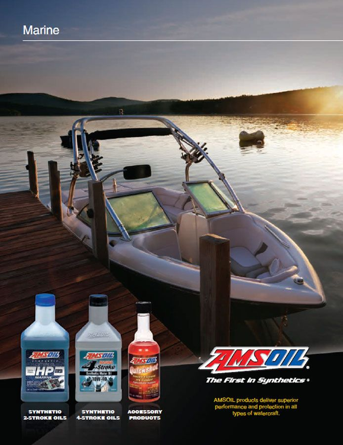 Amsoil Marine Products Brochure For Outboard Inboard Outdrives