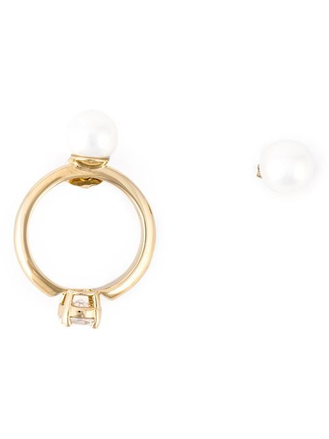 Shop Maison Margiela loop and pearl earrings in Hervia Bazaar from the world's best independent boutiques at farfetch.com. Shop 300 boutiques at one address.