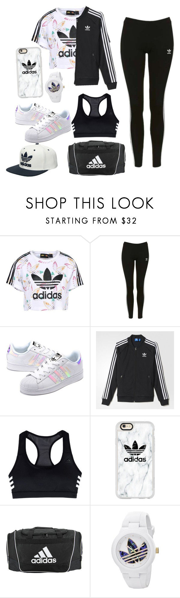 """""""Adidas"""" by charlotte-elizabeth-02 ❤ liked on Polyvore featuring adidas Originals, Topshop, adidas and Casetify"""