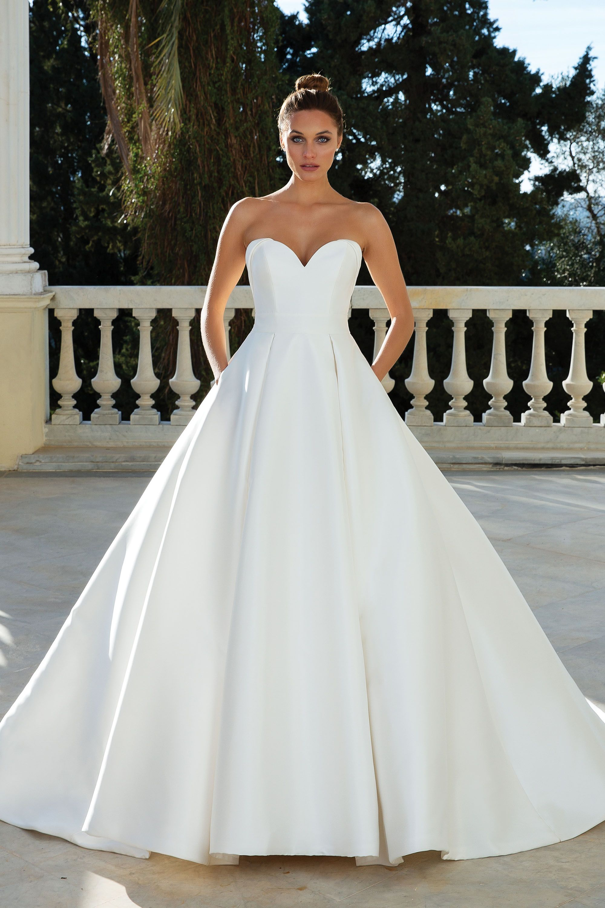 Style 88110 Sweetheart Neckline Mikado Ball Gown Justin