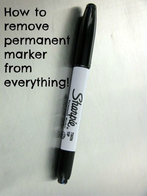 How To Remove Permanent Marker From Everything Clothes