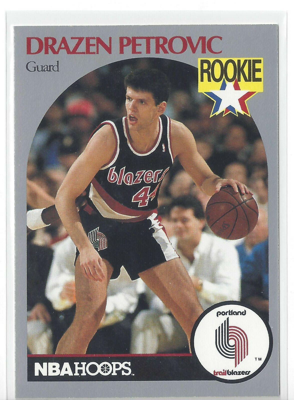 1990 nba hoops drazen petrovic 248 rookie rc card