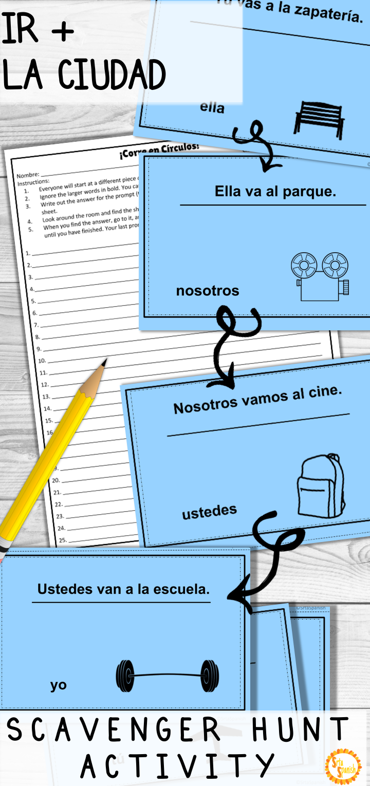Looking For A Fun Game To Practice The Verb Ir And City Vocabulary La Ciudad With Your Spa Spanish Classroom Activities Learning Spanish Spanish Lesson Plans [ 1530 x 720 Pixel ]