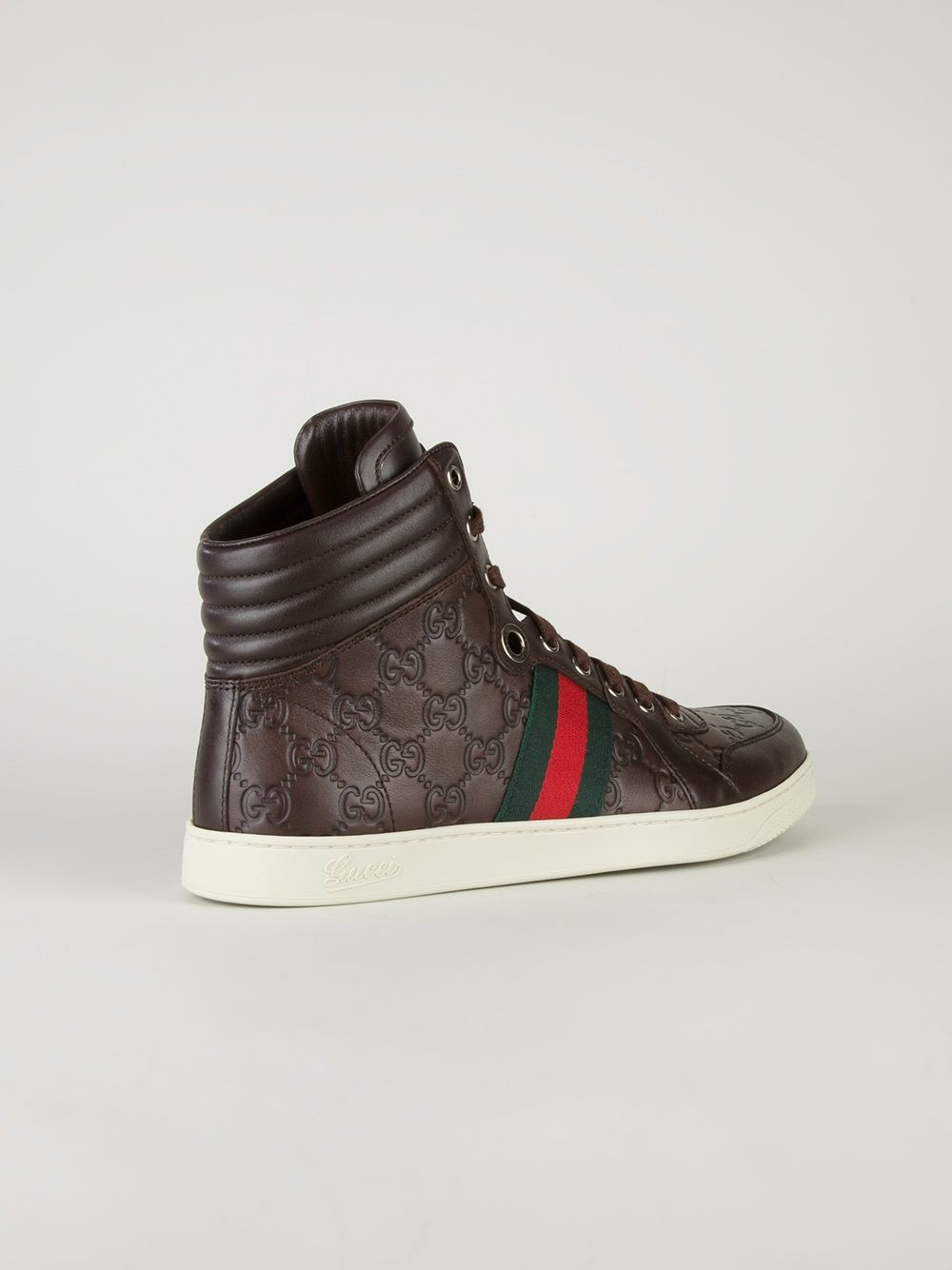 gucci high top trainer high end kickz schuhe. Black Bedroom Furniture Sets. Home Design Ideas