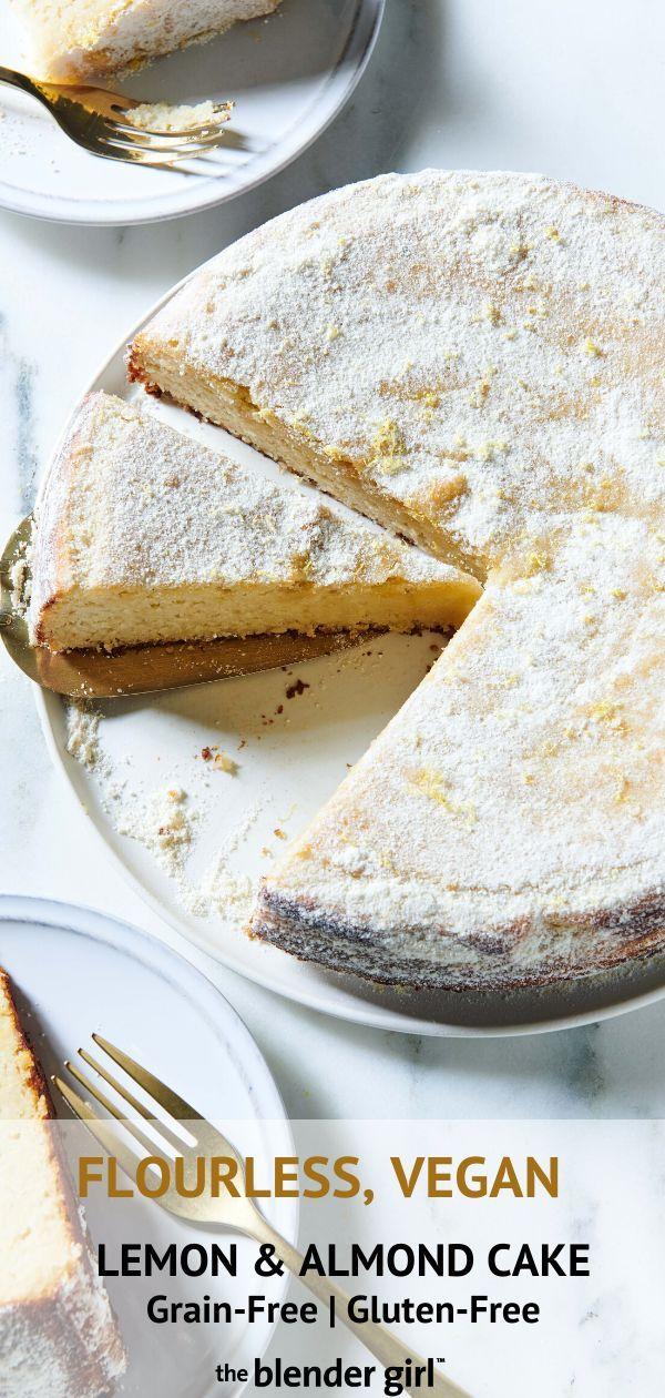 Damp Lemon Almond Cake {Vegan + Gluten-Free} - The Blender Girl