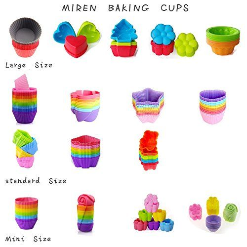 Cupcake Canisters For Kitchen: Amazon.com: MIREN 48 Pack Reusable Mini Silicone Baking