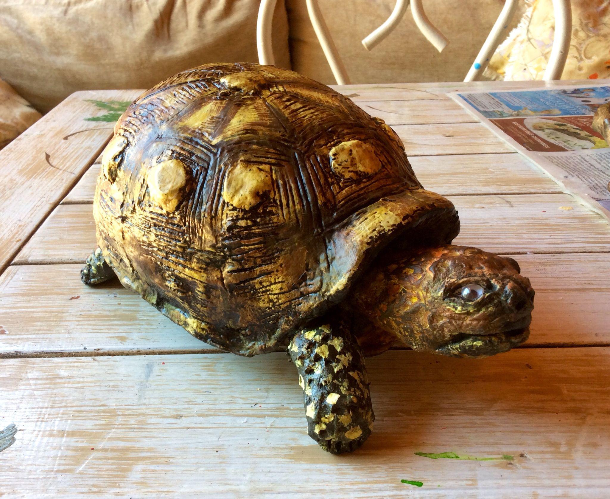 Tartaruga papel machê. Turtle. Papier-mache
