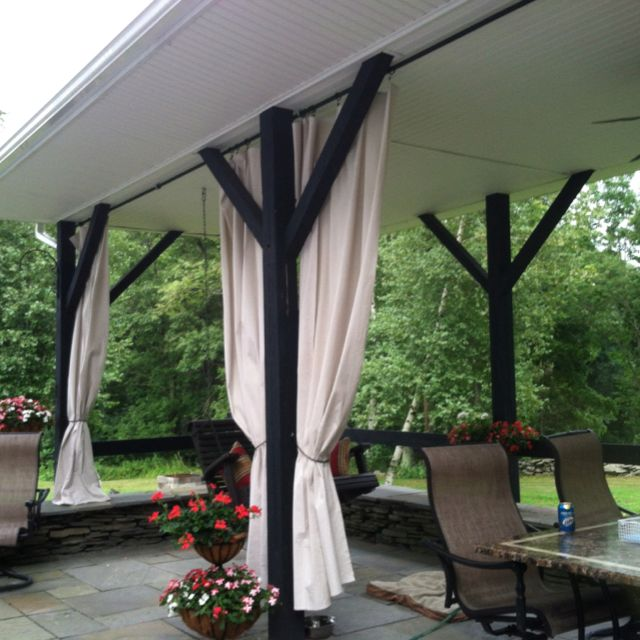 Outdoor Curtains Made With Paint Drop Cloths GREAT JOB