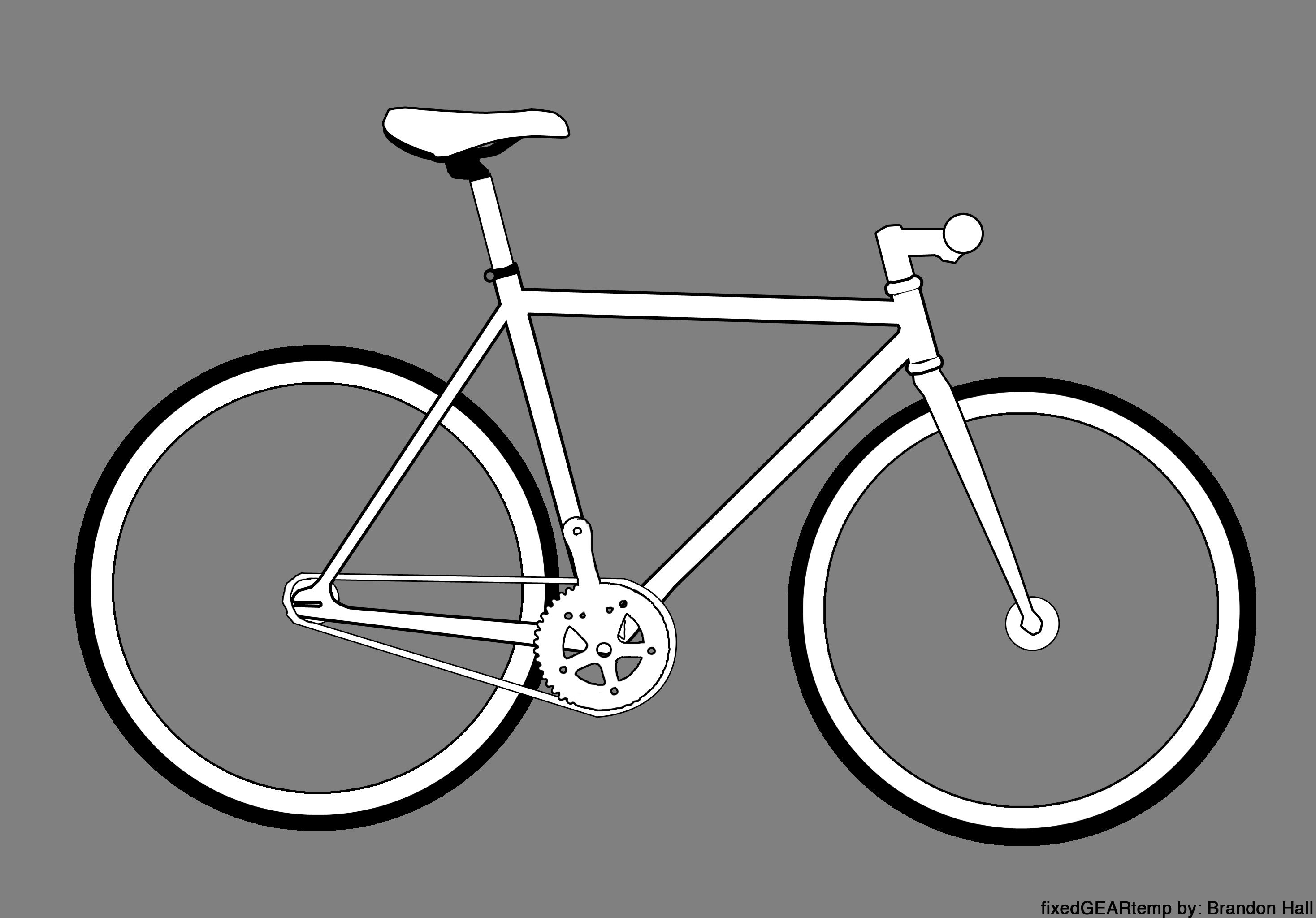 how to draw a fixed gear bike - Google Search   Ghost Bike or The ...