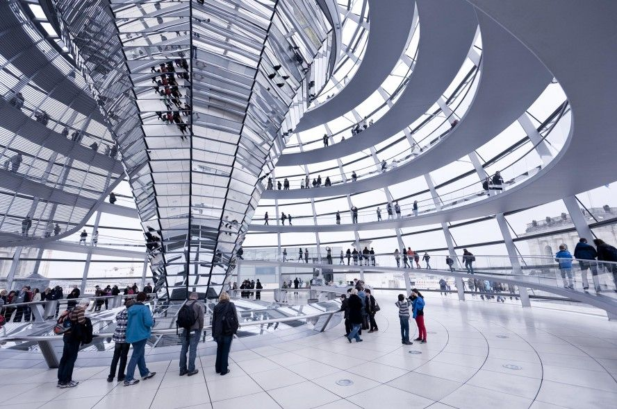 Stunning Decoration Implemented in Reichstag building : The Reichstag Building Inside