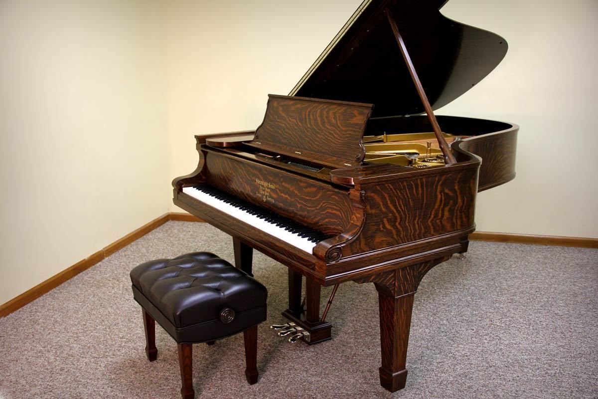1901 Steinway Model B Grand Piano in Quarter Sawn Oak