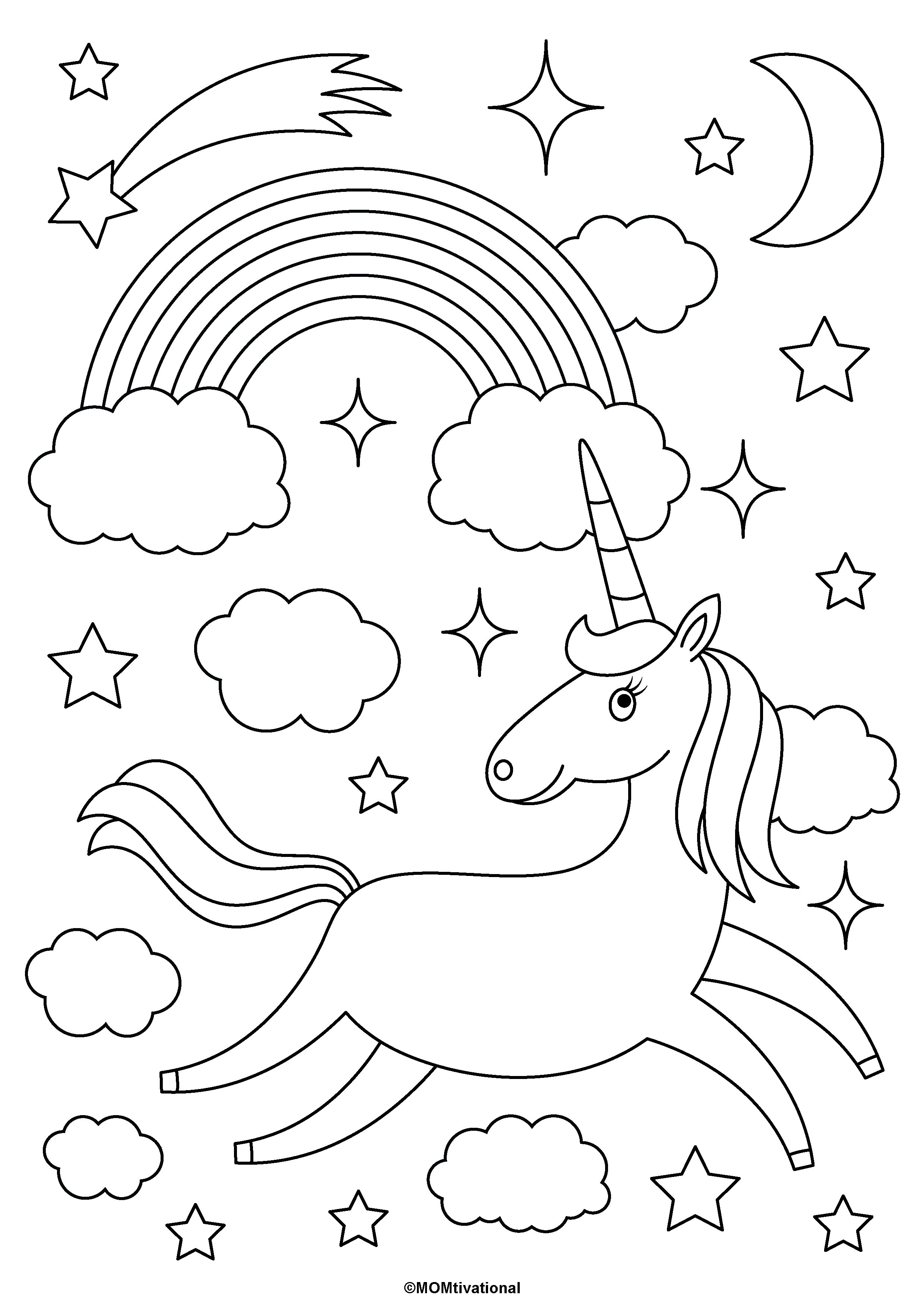 Fun And Free Unicorn Coloring Pages For Kids Momtivational Unicorn Coloring Pages Love Coloring Pages Free Kids Coloring Pages