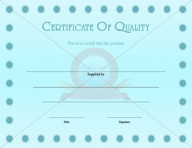 Certificate Of Quality GENERAL TEMPLATE TEMPLATES Pinterest - printable certificates templates free