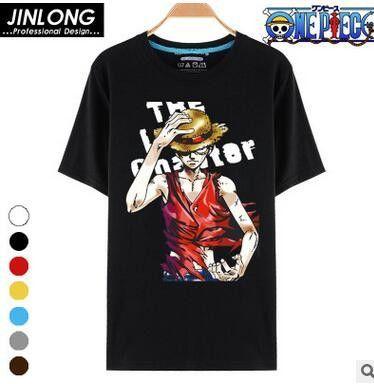 One Piece Plain Logo Graphic T-Shirt Luffy Straw Hat Manga Japan Anime Pirates