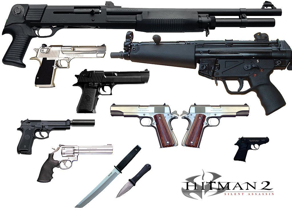 guns from the HITMAN | Guns, Guns and ammo, Cool guns