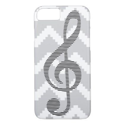Musical Note  Abstract Geometric Pattern  Gray Iphone  Case