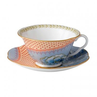 Butterfly Bloom Teacup and Saucer Blue by Wedgwood another for the Christmas or wishlist. Love the orange and blue contrast!