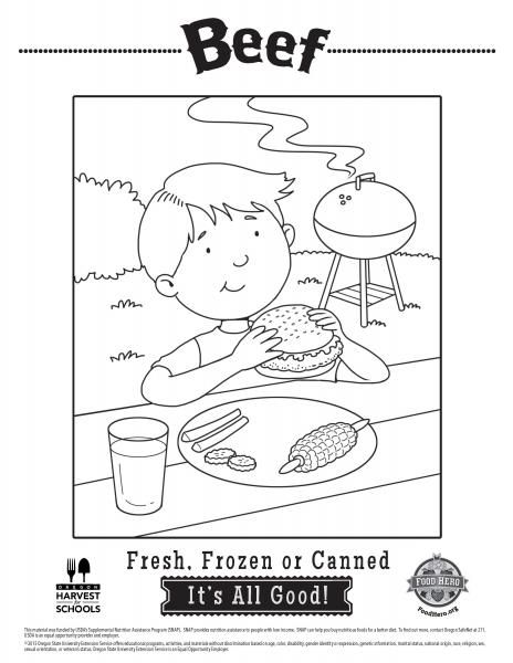 coloring pages for kids beef food coloring sheets food hero free and printable from home coloringpage