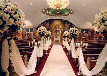 Church wedding decor close it up while bride is walking down the church wedding decor close it up while bride is walking down the aisle and then junglespirit Choice Image