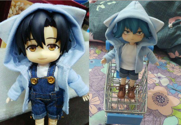 Obitsu11 OB11 1//12 doll coat hoodies with big cap doll clothes doll accessories