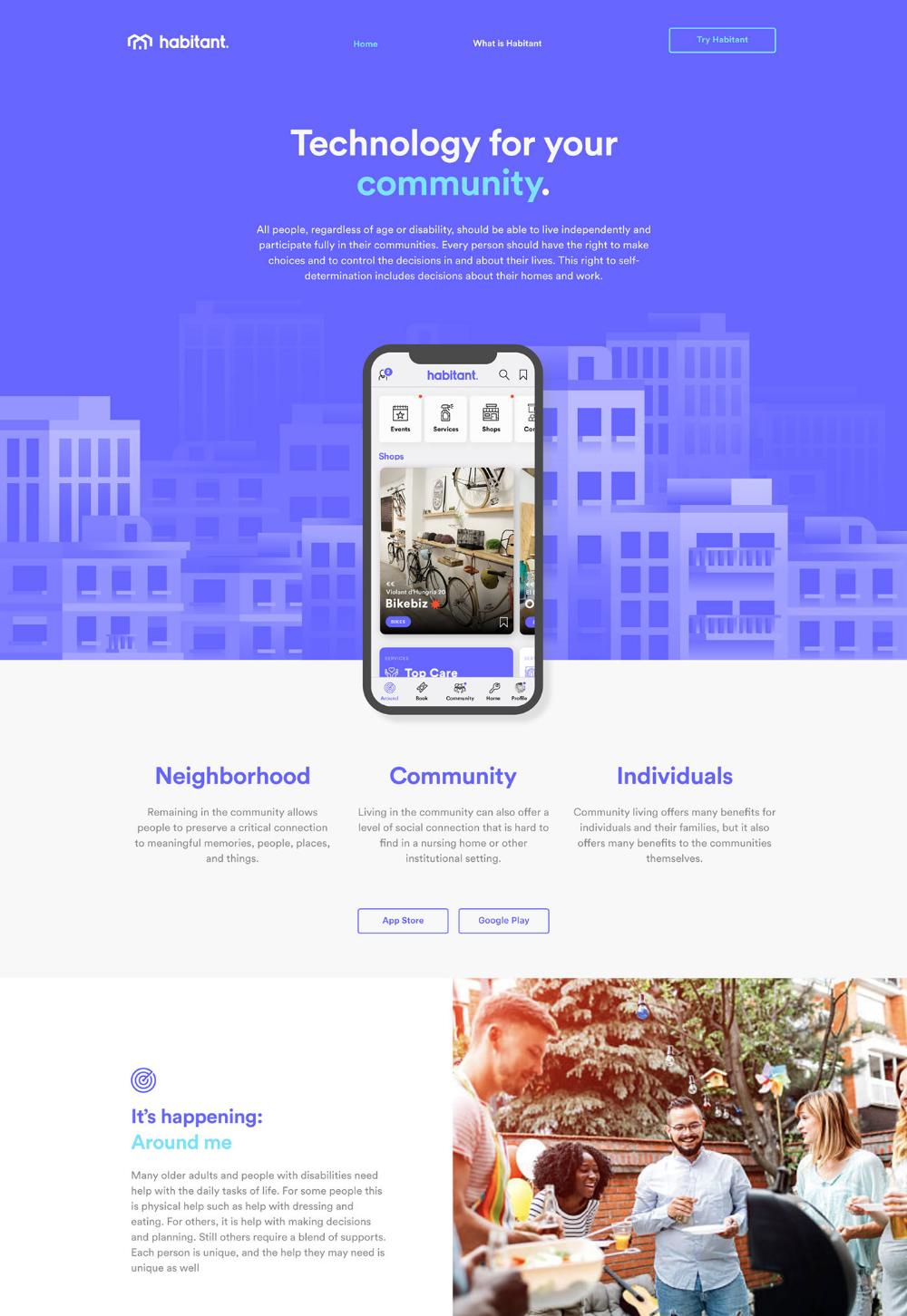Habitant On Behance In 2020 App Design The Neighbourhood Interactive