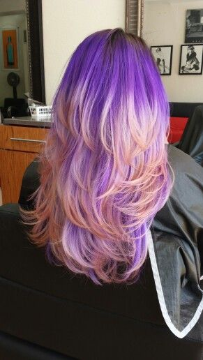 Amazing Pink And Purple Ombre Hair Color If Only My Job Would Allow