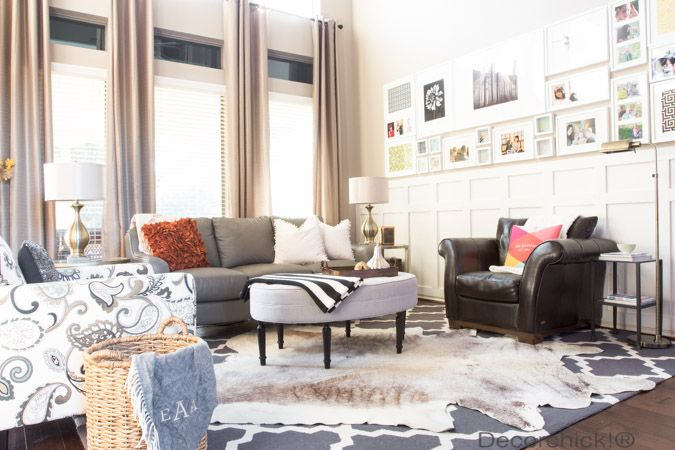 Living Room Arrangement With Open Floor Plan | Decorchick!®
