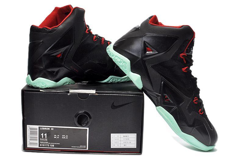 new Lebron 11 Varisty Black Green Red [Lebron 11 Varisty Black Green Red  4455] � Nike ShoxNike ...