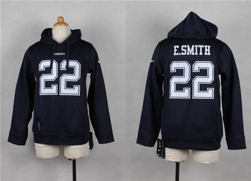 Nike #Cowboys #22 #EmmittSmith Navy Blue Youth Player #NFL Hoodie