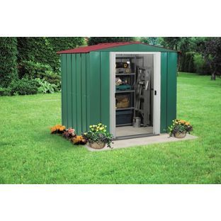 buy arrow apex metal garden shed 6 x 5ft at argoscouk