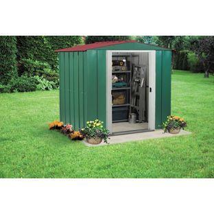 buy arrow apex metal garden shed 6 x 5ft at argoscouk