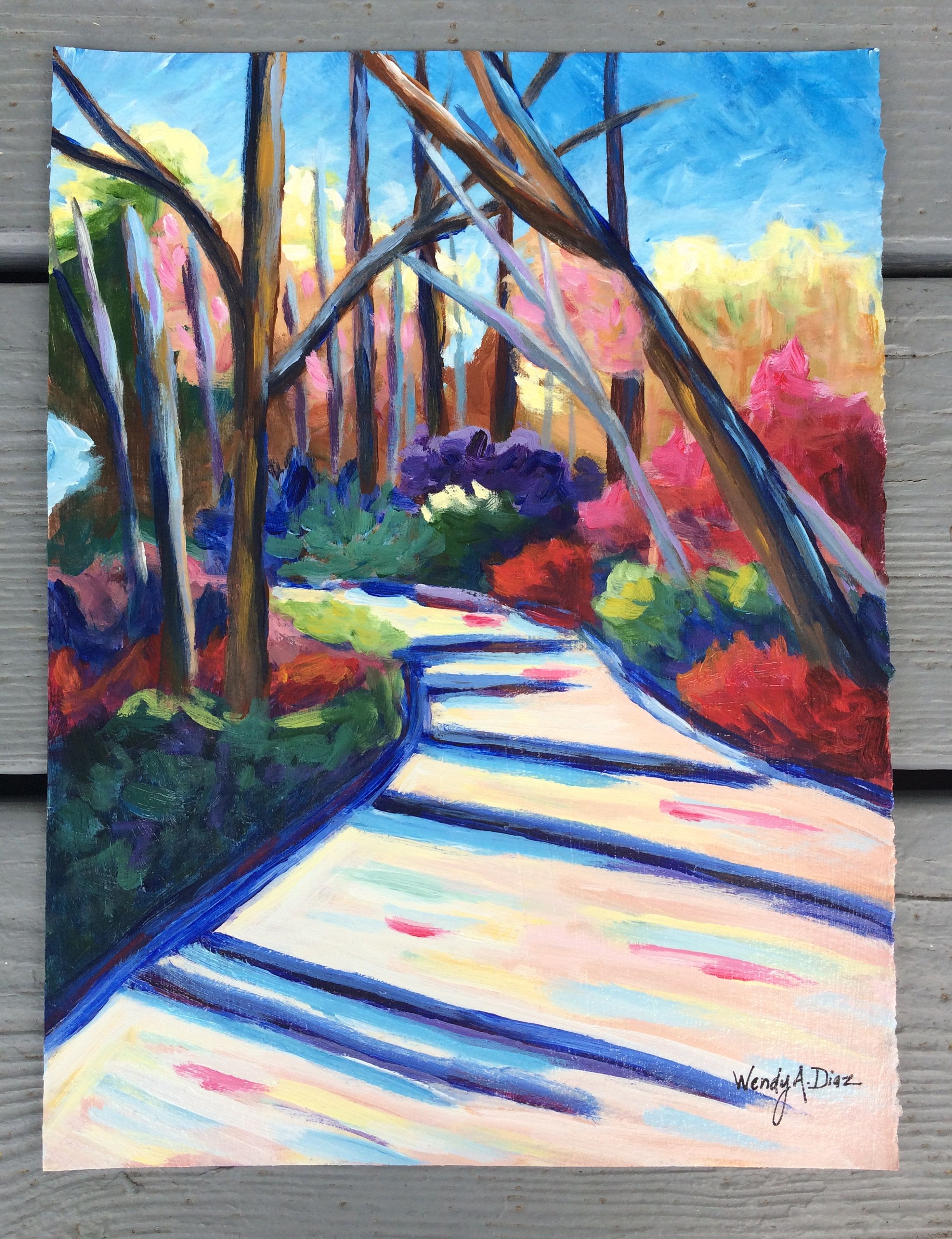 Acrylic Landscape Painting Acrylic On Paper Original Landscape Painting Nature Painting Impressionist Painting Abstract Painting Modern Art Nature Paintings Painting Modern Art Paintings