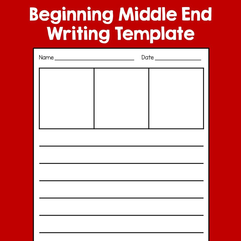 Beginning Middle End Writing Template Free Distance Learning Writing Templates Writing Templates Kindergarten Primary Writing [ 960 x 960 Pixel ]