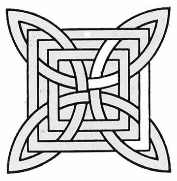 Celtic mosaic coloring pages ~ fab geometric patterns to look at. good for mosaics ...