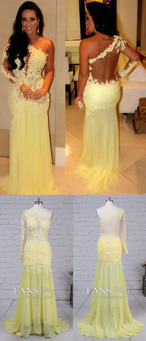 Daffodil prom dresses mermaidlong prom dresses with sleeveschiffon