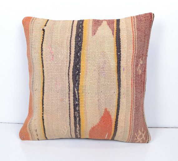 Antique Pillow Cover made of 50 years old kilim by omerfarukaksoy