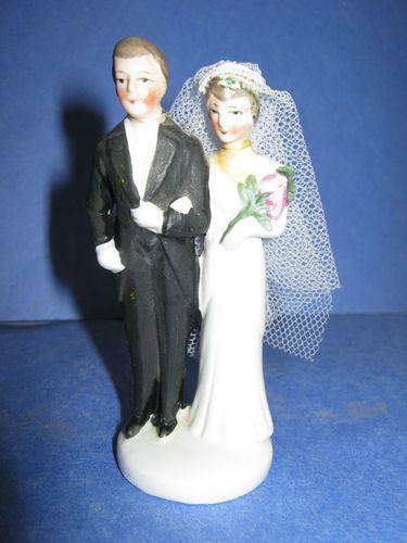 German Bisque Wedding Cake Topper \u2013 1920/'s