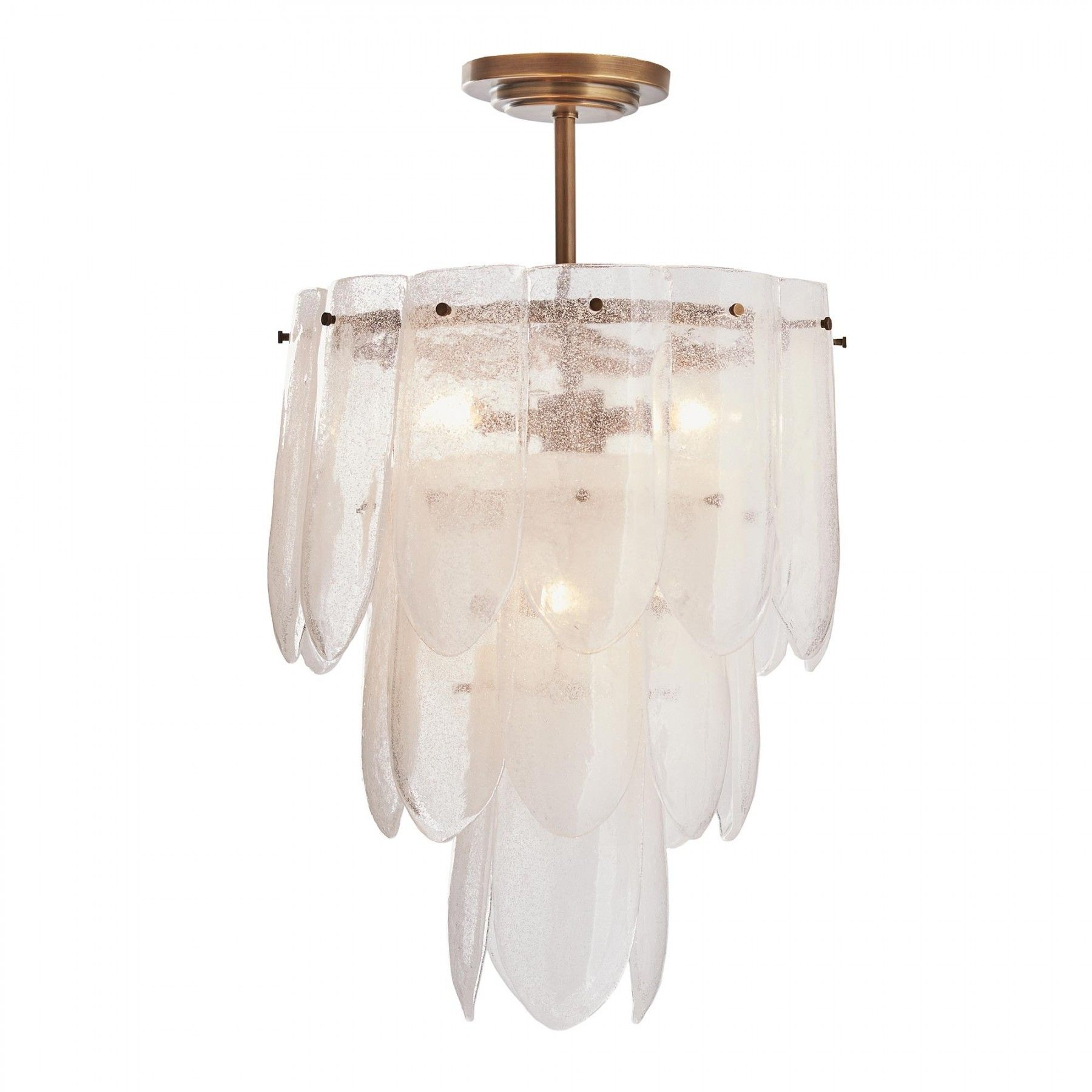 Eloise small chandelier lighting pinterest chandeliers and a small scale version of the popular eloise chandelier clear seedy glass plates with a slightly scalloped edge cascade beautifully down this three tier arubaitofo Images