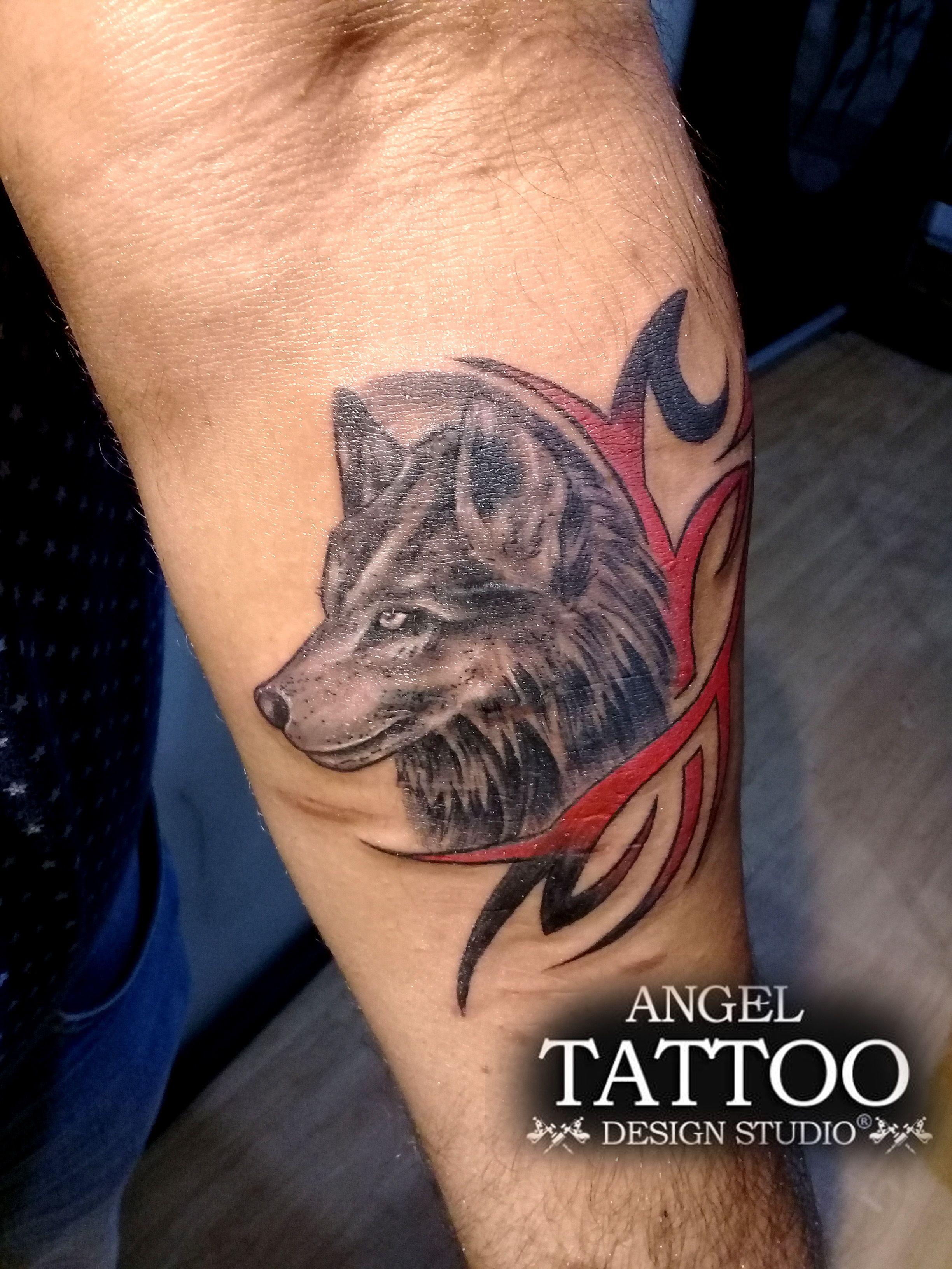 Wolf tattoo made at Angel Tattoo Design Studio Gurgaon