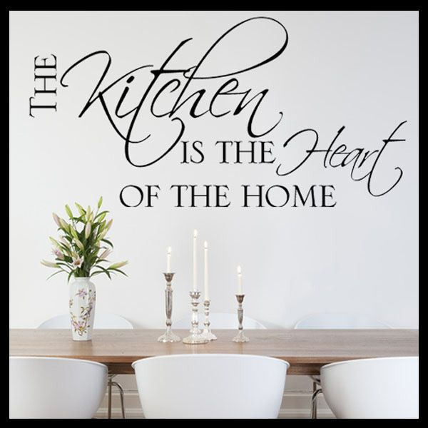 Kitchen Heart Of The Home Mesmerizing The Kitchen Is The Heart Of The Home Wall Sticker  Decals  All . 2017
