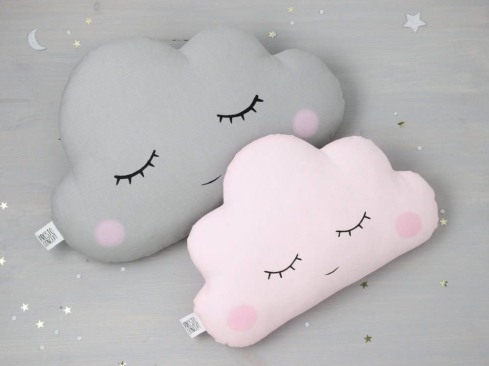 Baby Girl Nursery Decor, Two Cloud pillows cloud cushion baby pillow kids pillows baby boy nursery unique baby gift baby shower gift ideas
