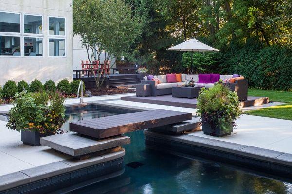 Highland Park Il Renovation Transforms Dated Outdoor Living Space Into Asian Inspired Zen Garden Backyard Pool Luxury Garden Outdoor Living