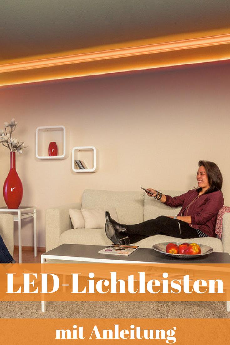Led Lichtleisten Led Beleuchtung Wohnzimmer Indirekte Beleuchtung Selber Bauen Und Led Deckenbeleuchtung