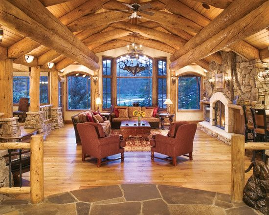 Lavish Residence Design With Stunning Exterior And Interior Delectable Wooden Living Room Exterior