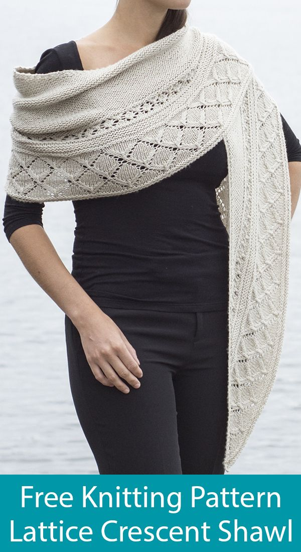 Crescent Shawl Knitting Patterns- In the Loop Knitting