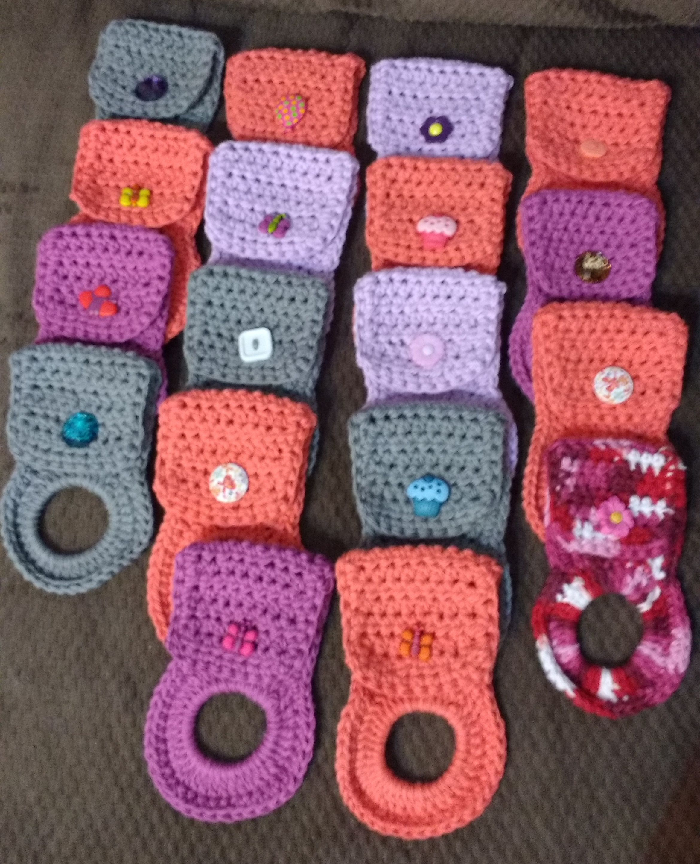 Crochet Project: Towel Holders! I have crocheted many of these in ...
