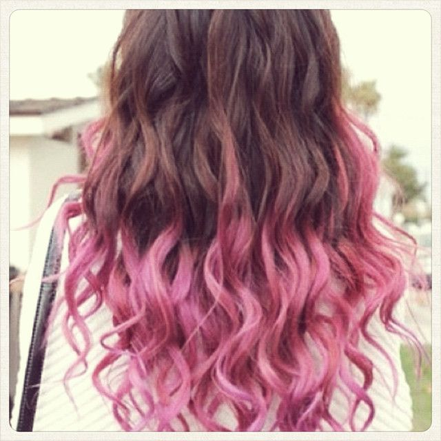 Pink Tips Cool Hair Color Dip Dye Hair Pink Ombre Hair