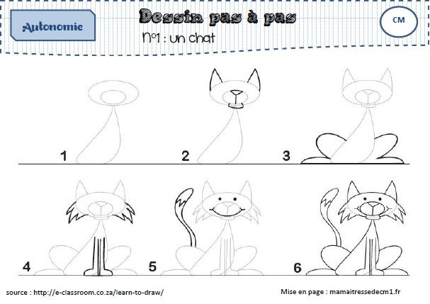 un fichier de dessins par tapes photos comment dessiner et animaux. Black Bedroom Furniture Sets. Home Design Ideas