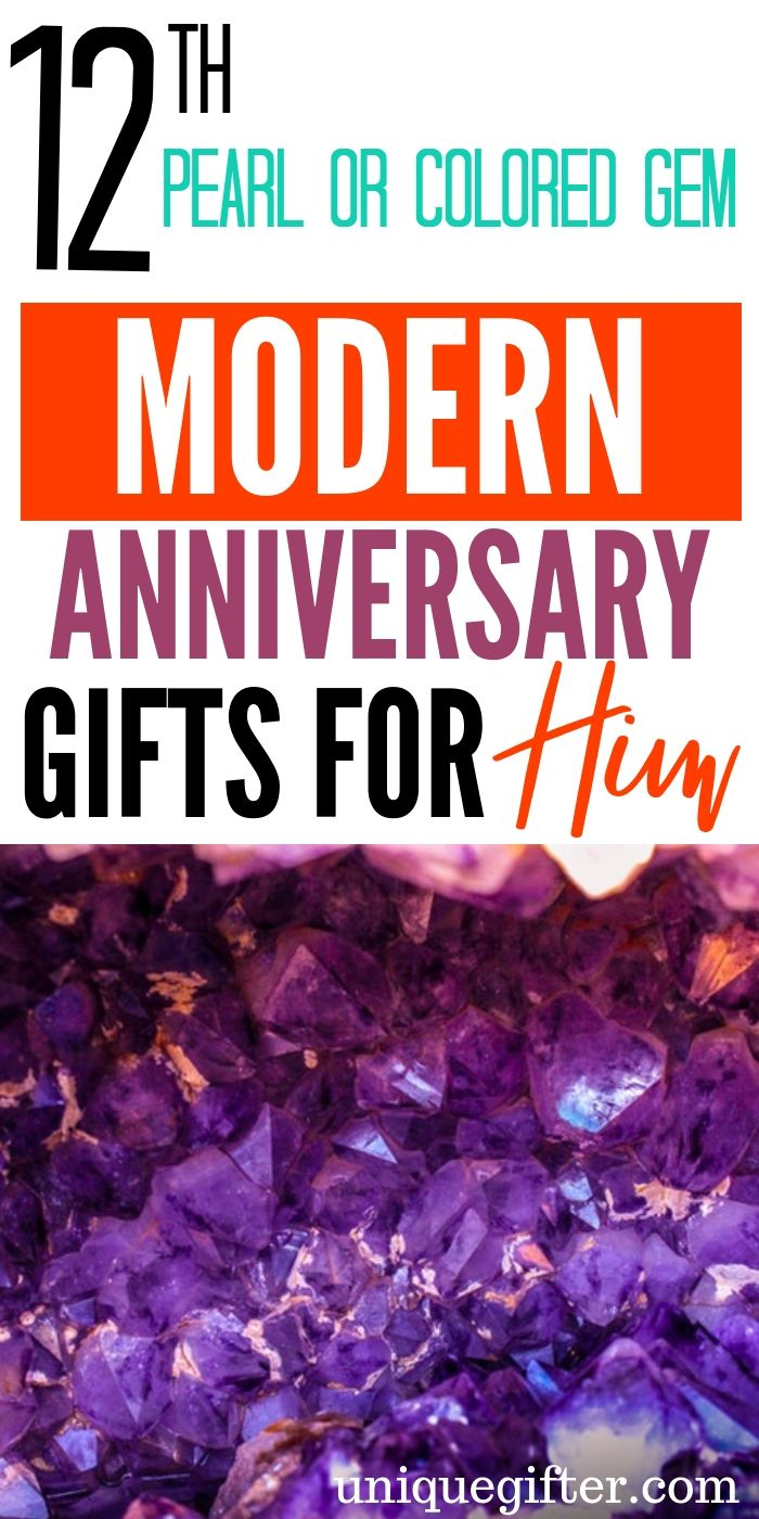 20 12th Pearls & Colored Gems Modern Anniversary Gifts for